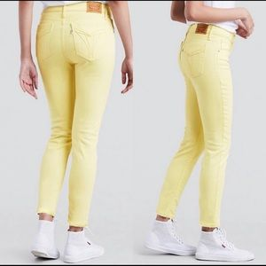LEVIS 721 high rise skinny jeans yellow size 25